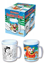 CHRISTMAS COLOUR IN YOUR OWN MUG